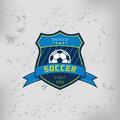 Soccer Football Badge Logo Emblem Design Templates Royalty Free Stock Photo