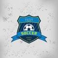 Soccer Football Badge Logo Emblem Design Templates Royalty Free Stock Photo