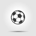 Soccer football ball flat icon with shadow Royalty Free Stock Photo