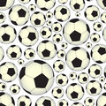 Soccer and football balls seamless vector pattern eps10 Royalty Free Stock Photo
