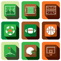 Soccer football and basket ball icon set Royalty Free Stock Photo