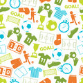 Soccer football color icons seamless pattern Royalty Free Stock Photo