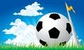 Soccer football corner kick Royalty Free Stock Images