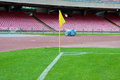 Soccer or football corner kick flag in san paolo stadium naples Stock Photography