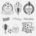 Soccer football crests and emblem designs