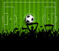 Soccer Or Football Crowd Backg...