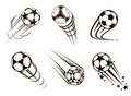 Soccer and football emblems for sport championship design Stock Photo