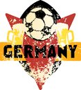 Soccer / Football fictional grungy emblem germany Royalty Free Stock Photo