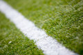 Soccer football field grass white line background texture Royalty Free Stock Photo