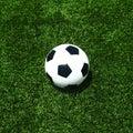 Soccer football field stadium grass line ball Royalty Free Stock Photo