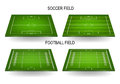 Soccer and football fields set Royalty Free Stock Photo