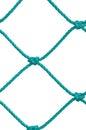 Soccer Football Goal Post Set Net Rope Detail, New Green Goalnet, Isolated Royalty Free Stock Photo