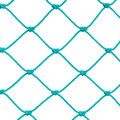 Soccer Football Goal Post Set Net Rope Detail, New Green Goalnet Netting Ropes Knots Pattern Macro Closeup Isolated Large Detailed Royalty Free Stock Photo