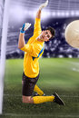 Soccer football goalkeeper field Stock Photo