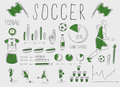 Soccer/football infographic Royalty Free Stock Photography