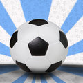 Soccer football on light blue background Royalty Free Stock Photography