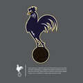 Soccer or football logo design in Rooster year concept. Sport team identity template. Vector.