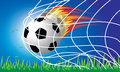 Soccer football penalty Royalty Free Stock Image