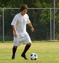 Soccer - Football  Player Dribbling Royalty Free Stock Photos