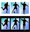 Soccer football players Royalty Free Stock Images