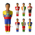 Soccer football players in national flags unifor uniform illustration Royalty Free Stock Image
