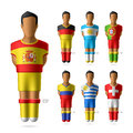 Soccer football players of national teams illustration Stock Image