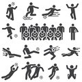Soccer football sports player icon set
