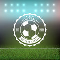 Soccer Football Typography Badge Design Element