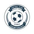 Soccer Football Typography Badge Design Element