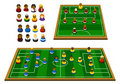 Soccer Formation Schema Royalty Free Stock Photo
