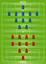 Soccer formation tactics Stock Photos