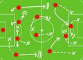 Soccer game action plan Stock Image