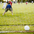 Soccer game with family Royalty Free Stock Images