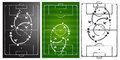 Soccer game strategy boards set Stock Images