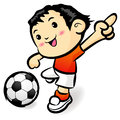 Soccer games football player character Royalty Free Stock Photography