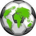 Soccer Globe Royalty Free Stock Photo