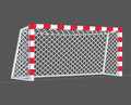 Soccer goal. Royalty Free Stock Photo