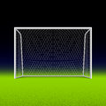 Soccer goal on black illustration Royalty Free Stock Photography