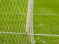 Soccer Goal Detail View Royalty Free Stock Photo