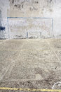 Soccer goal drawn on a wall Royalty Free Stock Photo