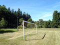 Soccer Goal with net Stock Images