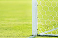 Soccer goal post detail Royalty Free Stock Photo