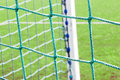Soccer goal post and net background of Royalty Free Stock Photo