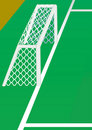 Soccer goal from side. Stock Image