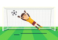 Soccer goalkeeper catching a ball illustration