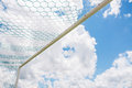 Soccer goals with blue sky Stock Photo