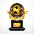 Soccer golden award medals illustration Royalty Free Stock Images