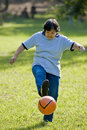 Soccer granny Stock Photography