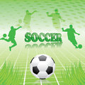 Soccer green abstract background Royalty Free Stock Image