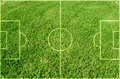Soccer green grass field background Stock Images